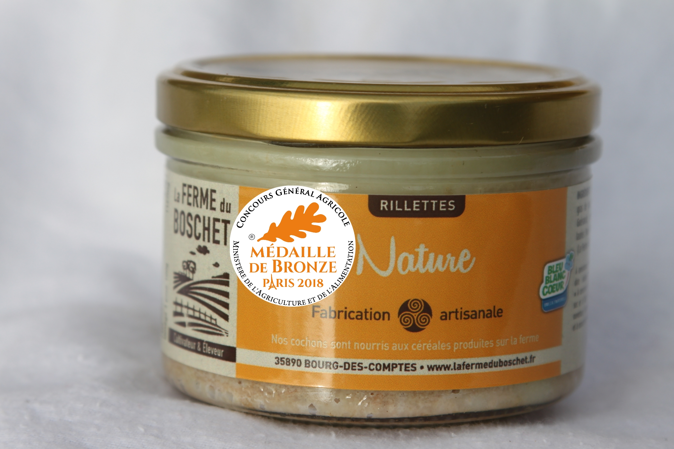 La rillette nature récompensée au salon Paris 2018
